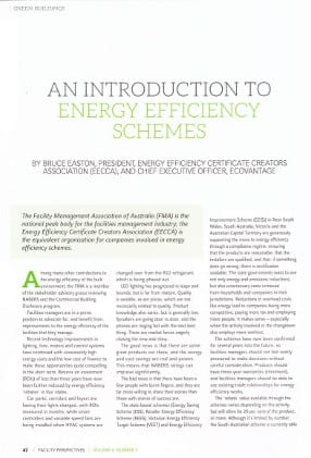 An Introduction to Energy Efficiency Schemes - Facility Perspectives